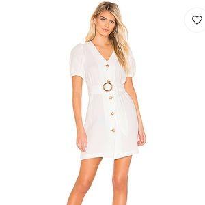 NWT JOA Puff Sleeve Dress in Off White